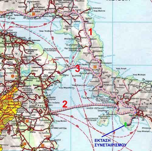 χάρτης προσέγγισης στα οικόπεδα